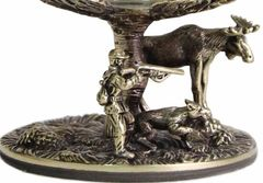 Бокал для коньяка Охота на лося (Береза) в картонном футляре