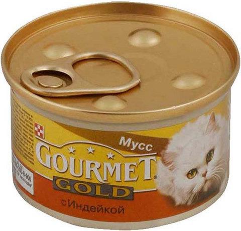 Gourmet Паштет Gourmet Gold с индейкой для кошек 85 г