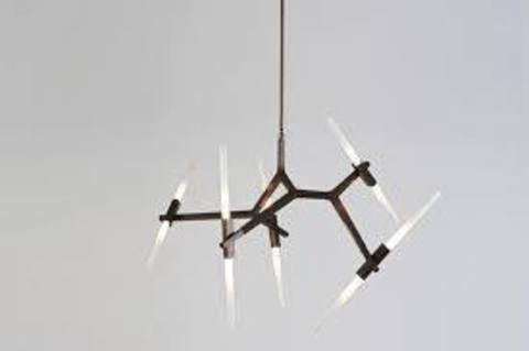 replica Lindsey Adelman 10 Bulbs Agnes Chandelier  (  BLACK )