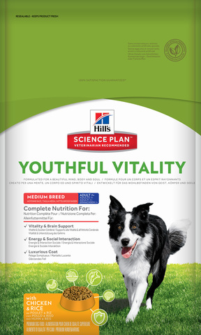 Hill's Science Plan Canine Adult 7+ Youthful Vitality Medium Breed with Chicken & Rice