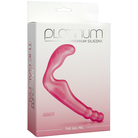 Безременной страпон, стимулятор точки G без вибрации Platinum Premium Silicone - The Gal Pal - Pink