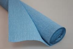 Бумага гофрированная простая голубой (556), 50 см./250 см.