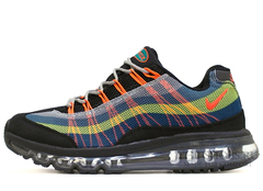 Кроссовки Мужские Nike Air Max 95 + Black Blue Yellow Orange