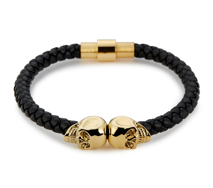 Northskull Браслет Northskull Black Nappa Leather/ 18kt. Gold Twin Skull bracelet из натуральной кожи af71aa9ee6bc13131b7ec0321321bdd6.jpg