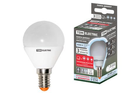Лампа светодиодная FG45-6 Вт-230 В-4000 К–E14