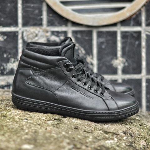 Черные мужские ботинки без молнии