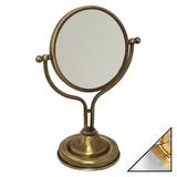 Косметическое зеркало Migliore Mirella ML.MRL-1300.CRDO хром-золото