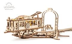 Деревянные конструкторы Ugears. Модель Трамвайная линия (коллекция Механический город)