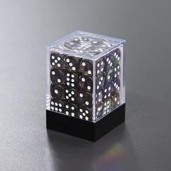 Набор шестигранных кубиков прозрачный черный (36 штук)