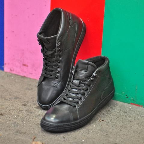 Мужские ботинки без молнии
