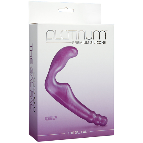 Безременной страпон, стимулятор точки G без вибрации Platinum Premium Silicone - The Gal Pal - Purple фото