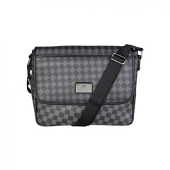 Мужская сумка мессенджер Versace V1969 GRD-YCA072-2_SQUARE-NERO-GRI