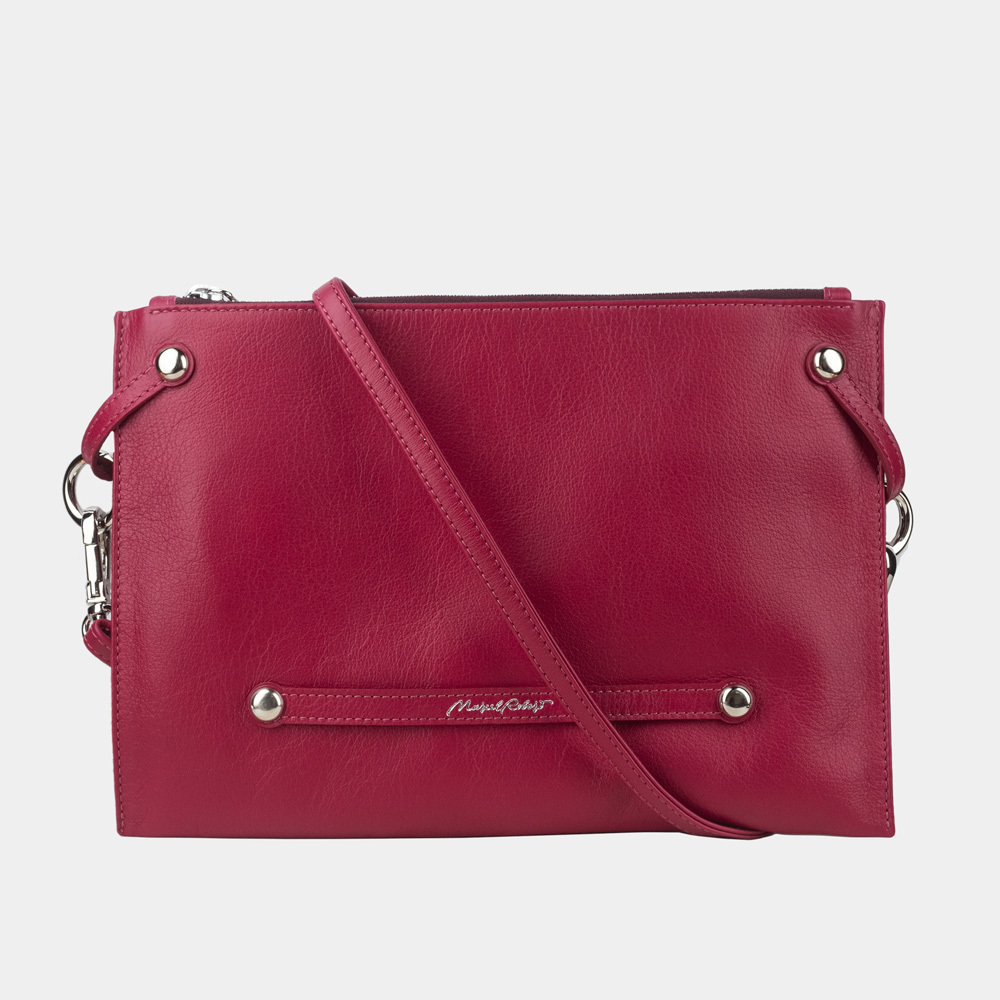 Женская сумка Julie Easy из натуральной кожи теленка, цвета малины