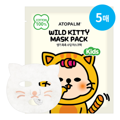 Маска ATOPALM Wild Kitty Mask Pack Kids 15ml 5шт.
