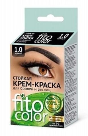 FITOкосметик Стойкая крем-краскаЧЁРНЫЙ д/бровей и ресниц (2прим)2х2мл, Fitocolor