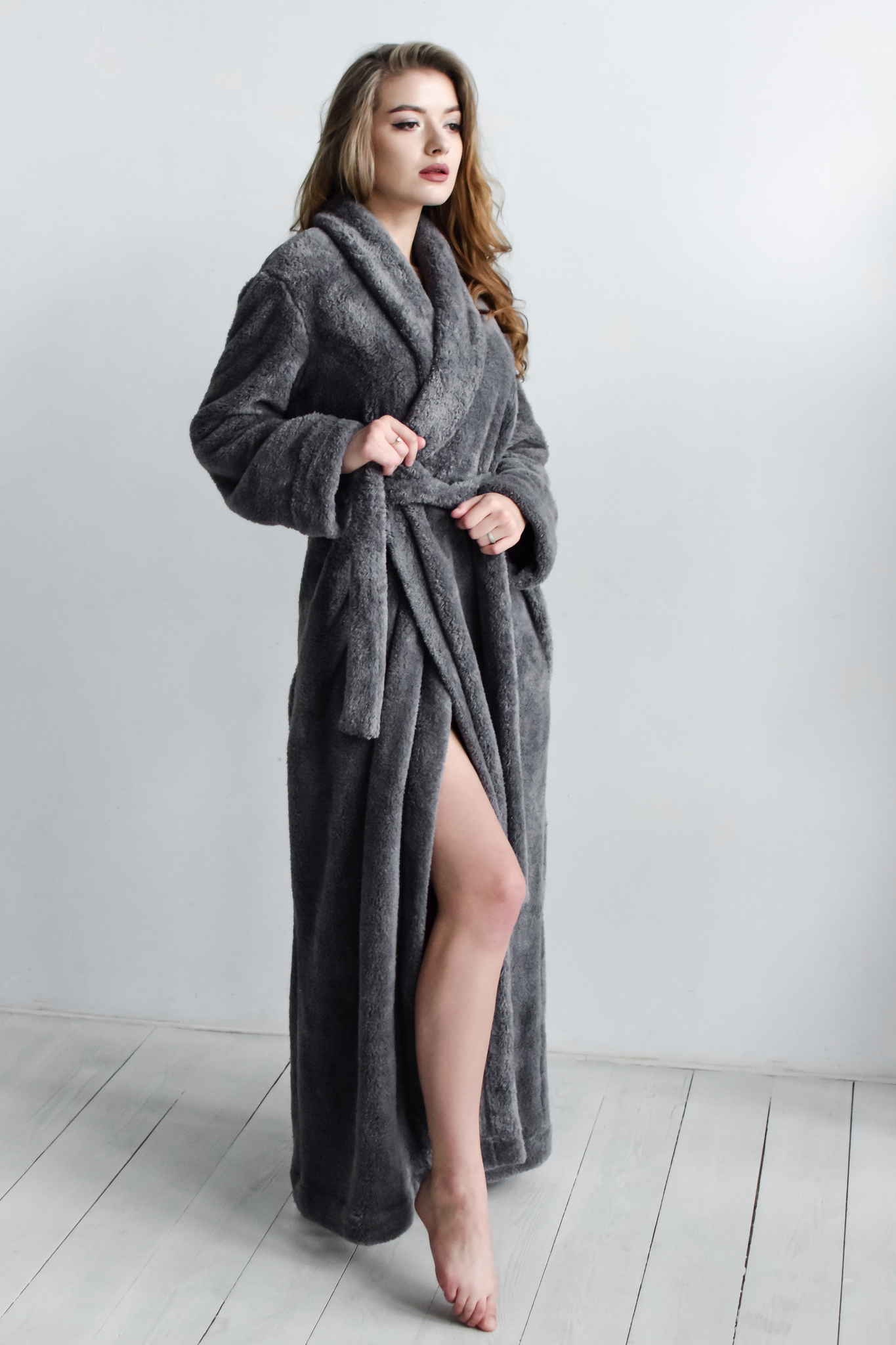 Халат Gray Long Spa Robe, M/L