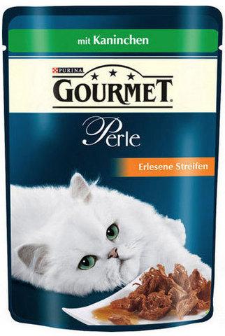 Gourmet Кусочки в маринаде Gourmet Perl с кроликом для кошек 85 г