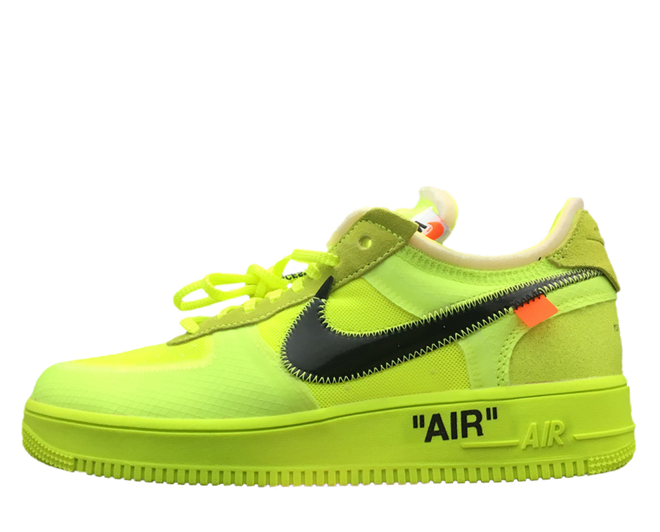 Off White x Nike Air Force 1 Low 'Volt'