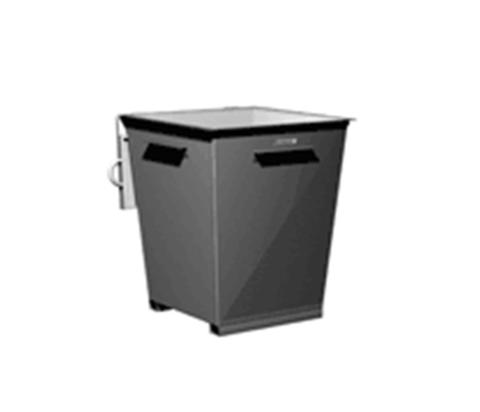 Контейнер для мусора FERRUM 09.002 с крышкой и фиксатором