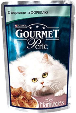 Gourmet Кусочки в маринаде Gourmet Perl с форелью для кошек 85 г