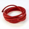 Шнур замшевый (искусств), 3х1,5 мм, цвет - красный, примерно 1 м