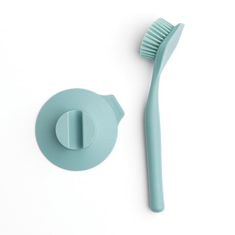 Щетка для мытья посуды с держателем на присоске, Мятный, арт. 117602 - фото 1