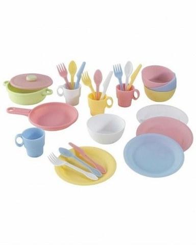 Кухонный игровой набор посуды KidKraft Пастель 63027