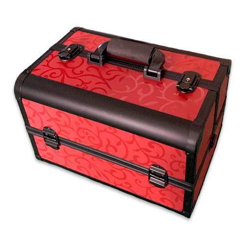 Бьюти кейсы и чемоданы Бьюти кейс для косметики CWB7350 Black with red 5.png