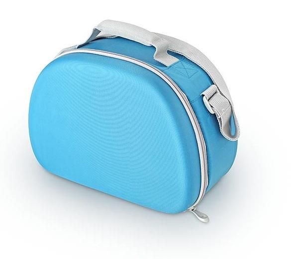 Сумка-холодильник (термосумка) для косметики с жесткими вставками EVA Mold Kit Blue, 6L
