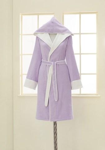 NEHİR - НЕГИР лиловый бамбуковый женский халат Soft Cotton (Турция)