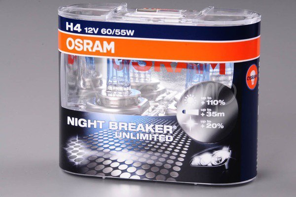 АВТОЛАМПЫ OSRAM H4 NIGHT BREAKER UNLIMITED
