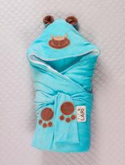 Зимний набор на выписку из роддома Панда (бирюзовый)