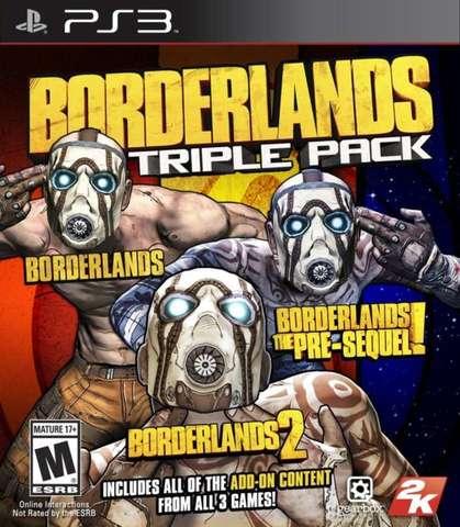 Sony PS3 Borderlands Triple Pack (1 & 2 & The Pre Sequel) (английская версия)
