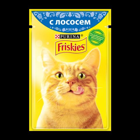 Friskies Консервы для кошек с Лососем в подливе (Пауч)