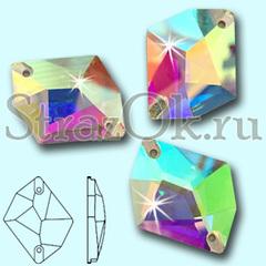 Стразы пришивные стеклянные Cosmic Crystal AB, Космик  Кристал АБ прозрачный с радужным покрытием на StrazOK.ru