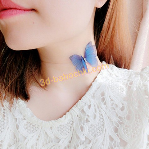 лента бабочка на шею