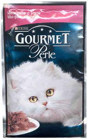 Gourmet Кусочки в соусе (подливе) Gourmet Perl с уткой для кошек 85 г