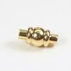 """Замок для шнура 2,7 мм магнитный из 2х частей """"Фонарик"""", 15х8 мм (цвет - золото)"""