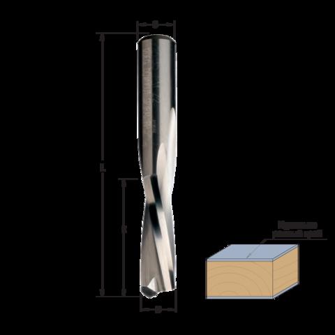 Фреза спиральная монолитная 4x15x60 Z=2 S=8 RH