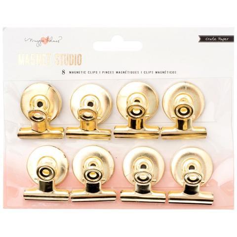 Декоративные зажимы на магните Maggie Holmes Magnet Studio Magnetic Clips Gold -8 шт