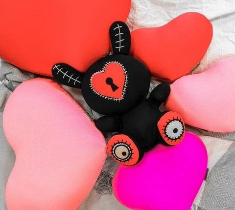 Подушка-игрушка антистресс «Большое розовое сердце» 5