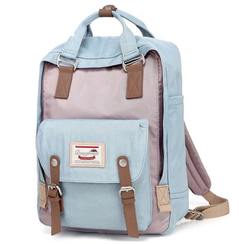 Рюкзак Nikki Macaroon Голубой + Серый