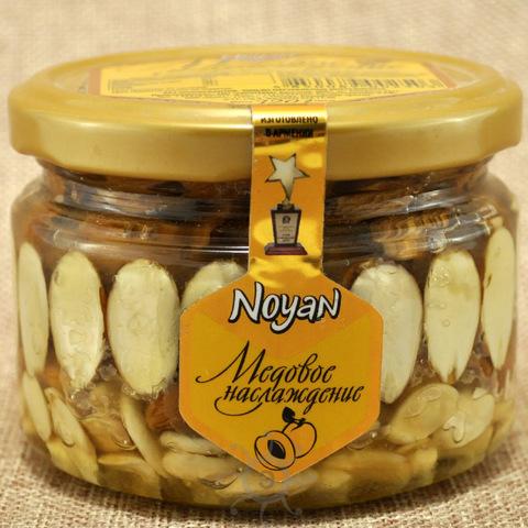 Мед с абрикосовыми косточками и миндалем Ноян, 320г