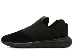 Кроссовки Мужские Y-3 Qasa Racer Low All Black Suede Edition