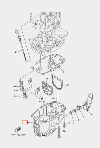 Поддон маслянный для лодочного мотора F20 Sea-PRO (22-1)