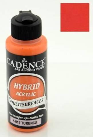 №12 Hybrid Acrylic, Оранжевый, 70мл., Cadence