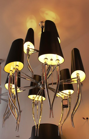 replica  Brunilde Chandelier 9 lamps (black)