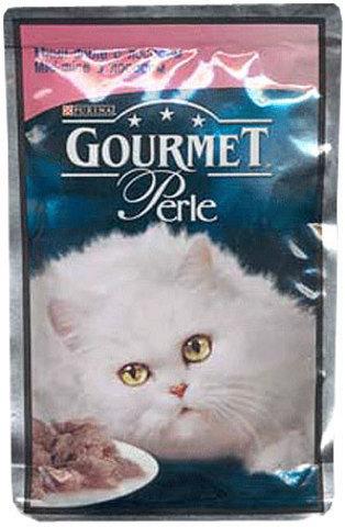 Gourmet Кусочки в соусе (подливе) Gourmet Perl с лососем для кошек 85 г