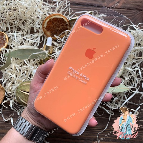 Чехол iPhone 7+/8+ Silicone Case /papaya/ папая 1:1