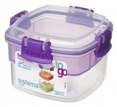 Контейнер Tо-Go двухуровневый, фиолетовый 400 мл